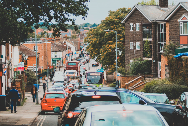 busy roads in Ipswich, UK, Picture by Super Straho, via Unsplash